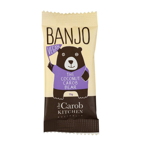 The Carob Kitchen Banjo The Vegan Coconut Carob Bear - 15g
