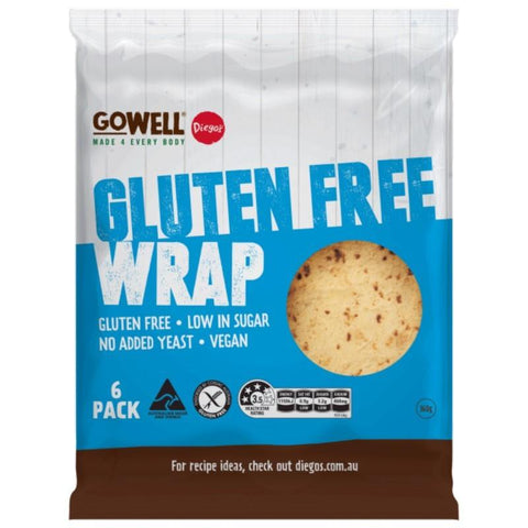 Diego's GoWell Gluten Free Wraps - 360g (6pack) - GF Pantry