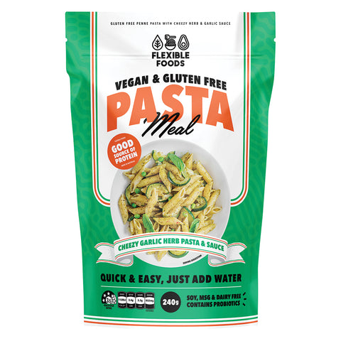 Flexible Foods Cheezy Garlic & Herb Pasta Meal 240g
