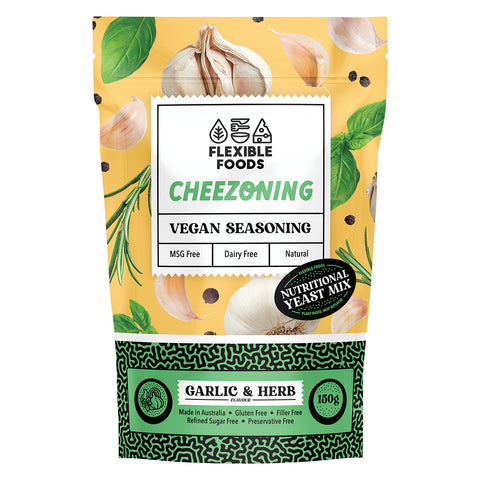 Flexible Foods Garlic & Herb Cheezoning 150g