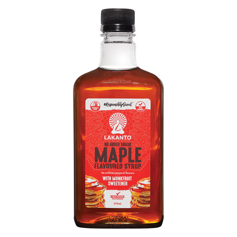 Lakanto No Added Sugar Maple Flavoured Syrup 375ml
