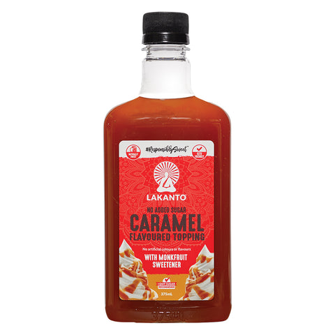 Lakanto No Added Sugar Caramel Flavoured Topping 375ml