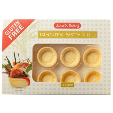 Lincoln Bakery Neutral Pastry Shells 45mm - 12x 45mm - GF Pantry
