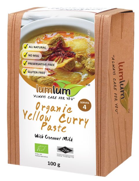 Lumlum Organic Yellow Curry Paste - 100g