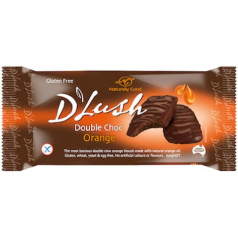 Naturally Good D'Lush Double Choc Orange Biscuits - 150g - GF Pantry