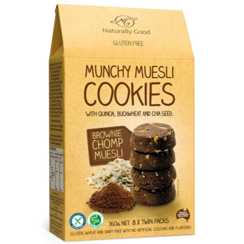 Naturally Good Munchy Muesli Cookies Brownie Chomp - 160g - GF Pantry
