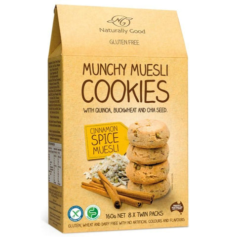 Naturally Good Munchy Muesli Cookies Cinnamon Spice - 160g - GF Pantry