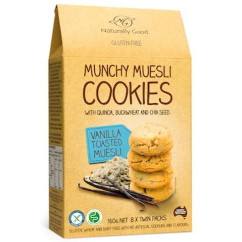 Naturally Good Munchy Muesli Cookies Vanilla - 160g - GF Pantry
