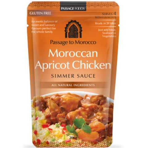 Passage Foods Moroccan Apricot Chicken - 200g - GF Pantry