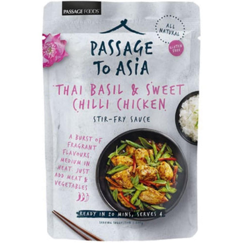 Passage Foods Thai Basil & Sweet Chilli Chicken - 200g - GF Pantry