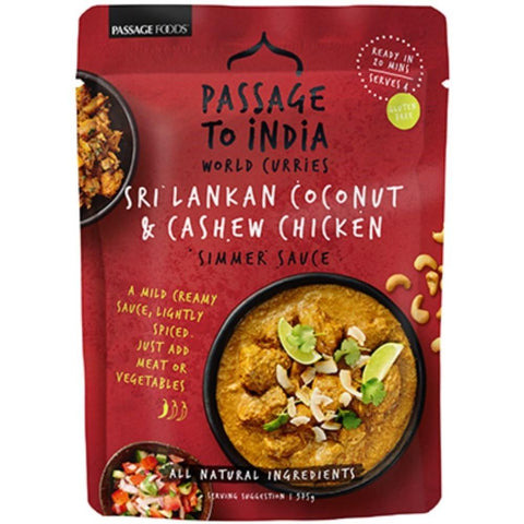 Passage Foods Sri Lankan Coconut & Cashew Chicken - 375g - GF Pantry