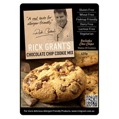 Rick Grants Chocolate Chip Cookie Mix - 420g - GF Pantry