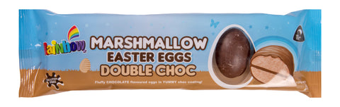 Rainbow Confectionery Marshmallow Double Choc Easter Eggs - 120g