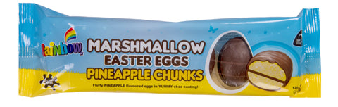 Rainbow Confectionery Marshmallow Easter Eggs with Pineapple Chunks - 120g