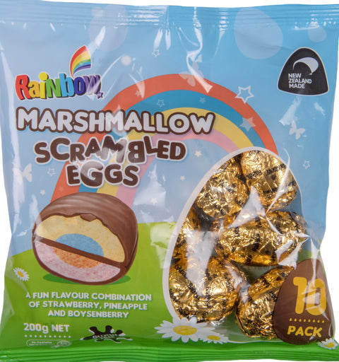 Rainbow Confectionery Scrambled Marshmallow Easter Egg Foil Pack - 200g