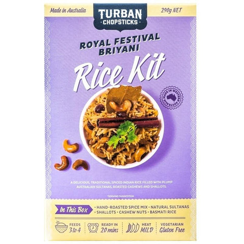 Turban Chopsticks Royal Festival Briyani - Rice Kit - 290g net - GF Pantry