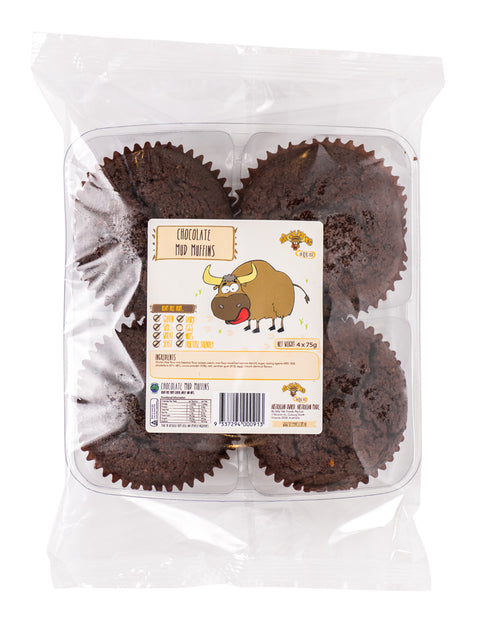 Silly Yaks Chocolate Mud Muffins - 4 Pack x 75g (not currently available in NZ) **Temporarily Unavailable**