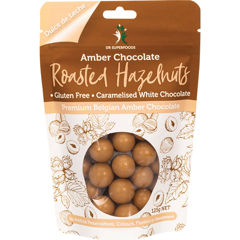 Dr Superfoods Amber Chocolate Roasted Hazelnuts - 125g