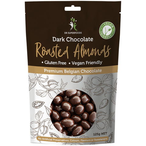 Dr Superfoods Dark Chocolate Roasted Almonds - 125g