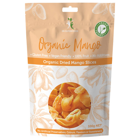 Dr Superfoods Organic Dried Mango Slices - 100g