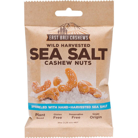 East Bali Cashews Sea Salt Cashew Nuts - Carton 10x 35g