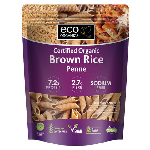 ECO Organics Brown Rice Penne - 200g