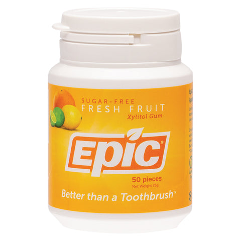 Epic Fresh Fruit Sugar Free Chewing Gum - 50 pieces