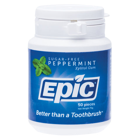 Epic Peppermint Sugar Free Chewing Gum - 50 pieces