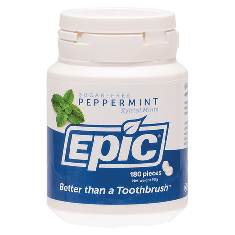 Epic Peppermint Sugar Free Xylitol Mints - 180 pieces