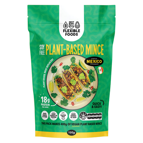 Flexible Foods Mexican Spiced Plant Based Mince - 100g