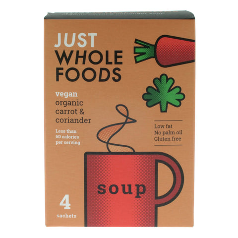 Just Whole Foods Organic Carrot and Coriander Soup - 68g