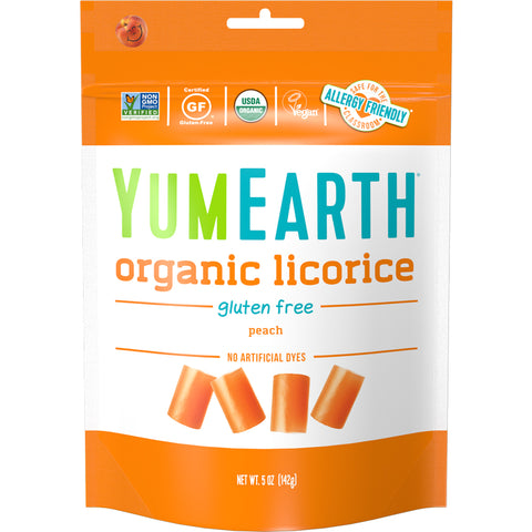 Yum Earth Organic Peach Licorice - 142g