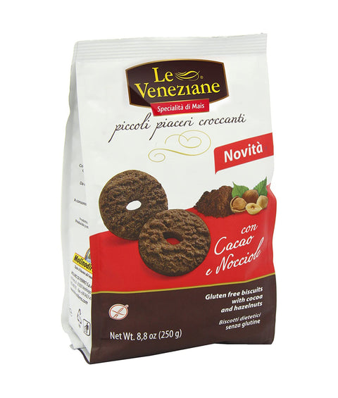Le Veneziane Cocoa and Hazelnut Biscuits - 250g