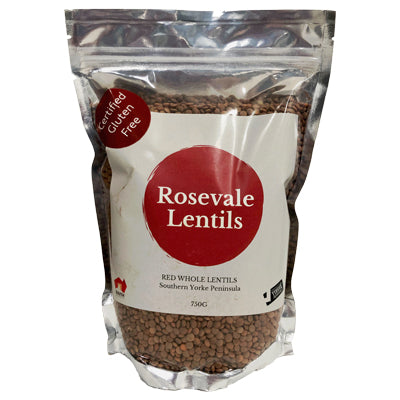 Rosevale Lentils Whole Red Lentils - 750g