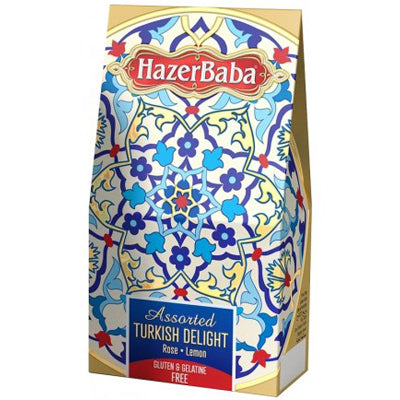 Hazerbaba Assorted Turkish Delight Rose and Lemon - 100g