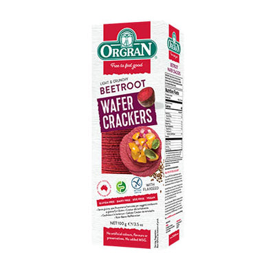 Orgran Wafer Crackers Beetroot - 100g