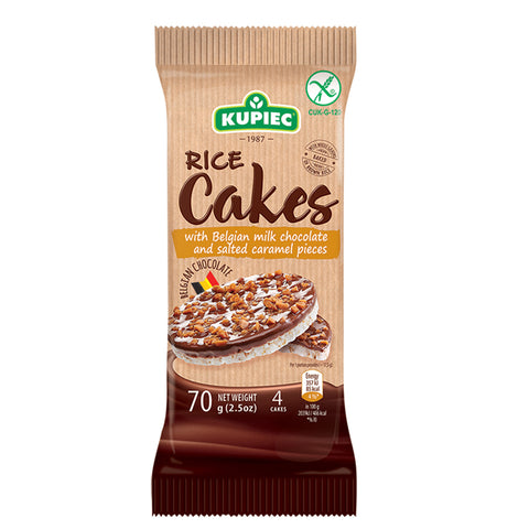 Kupiec Chocolate Rice Cakes with Salted Caramel Pieces  - 70g