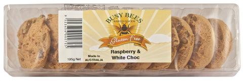 Busy Bees Raspberry and White Choc Biscuits - 195g