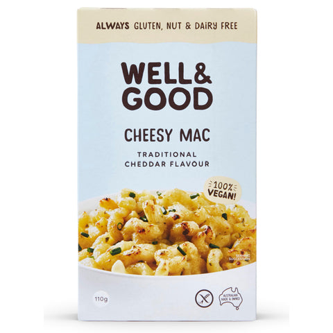 Well & Good Cheesy Mac Traditional Cheddar Flavour - 110g