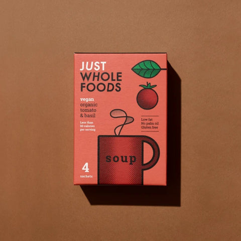 Just Whole Foods Organic Tomato & Basil Soup