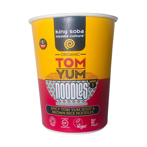 King Soba Organic Tom Yum Noodle Cup - 80g
