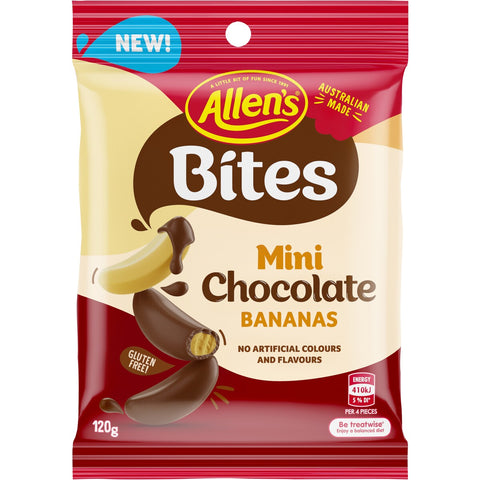 Allen's Mini Chocolate Bananas - 120g