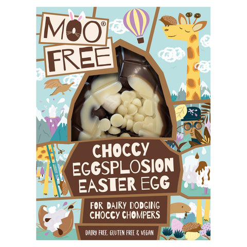Moo Free Choccy Eggsplosion Easter Egg with Vegan Mallows - 80g