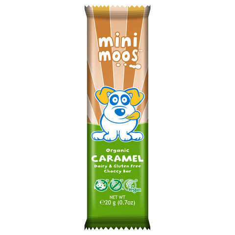 Moo Free Mini Moos Caramel Choccy Bar - 20g