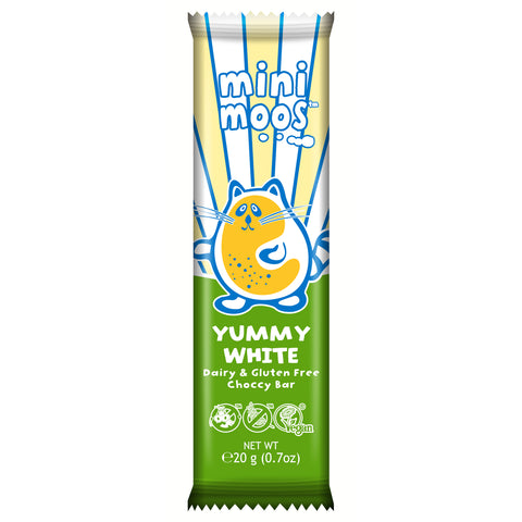Moo Free Mini Moos Yummy White Choccy Bar - 20g
