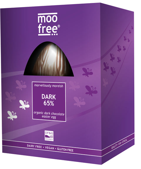 Moo Free Organic Dark 65 Chocolate Easter Egg - 160g