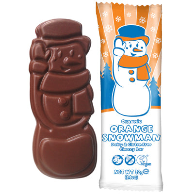 Moo Free Organic Chocolate Orange Snowman - 32g
