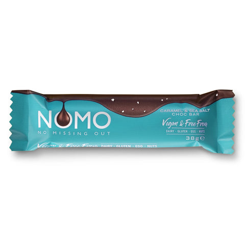 NOMO Caramel & Sea Salt Choc Bar - 38g