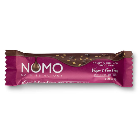 NOMO Fruit & Crunch Choc Bar - 32g