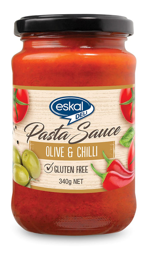 Eskal Olive and Chilli Pasta Sauce - 340g